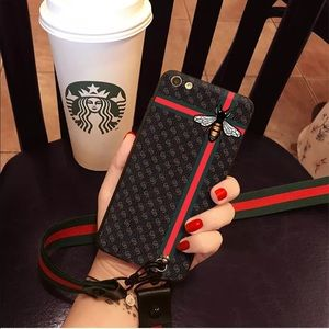 Accessories - SALE 🐝❤️Bee & Stripes IPhone Case & Lanyard